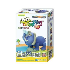 elefant jumping clay