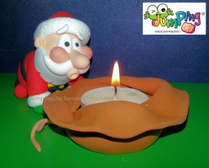 Figura Pare Noel  apagant espelma