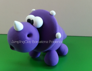 Triceratops Jumping Clay