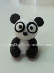 Os panda fet amb Jumping Clay