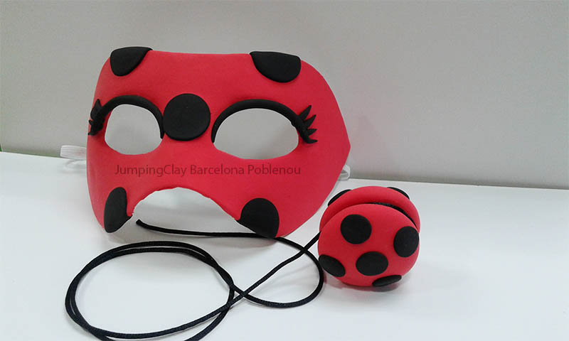 mascara lady bug jumping clay
