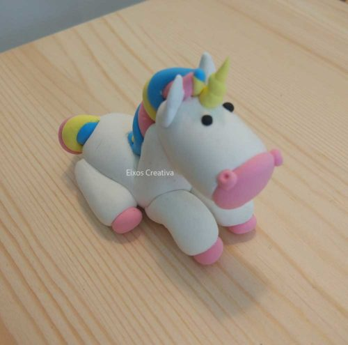 unicorn jumping clay